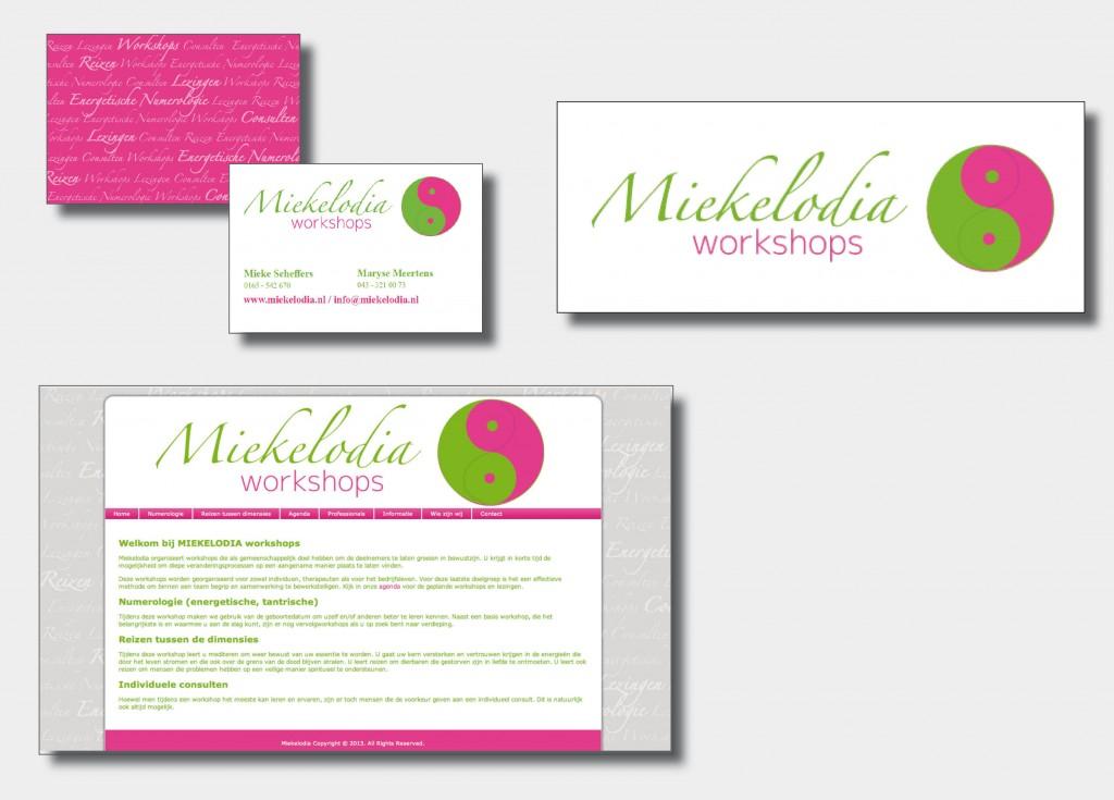 Ontwerp van logo, visitekaart en website. Tevens bouwen van website en leveren van drukwerk.