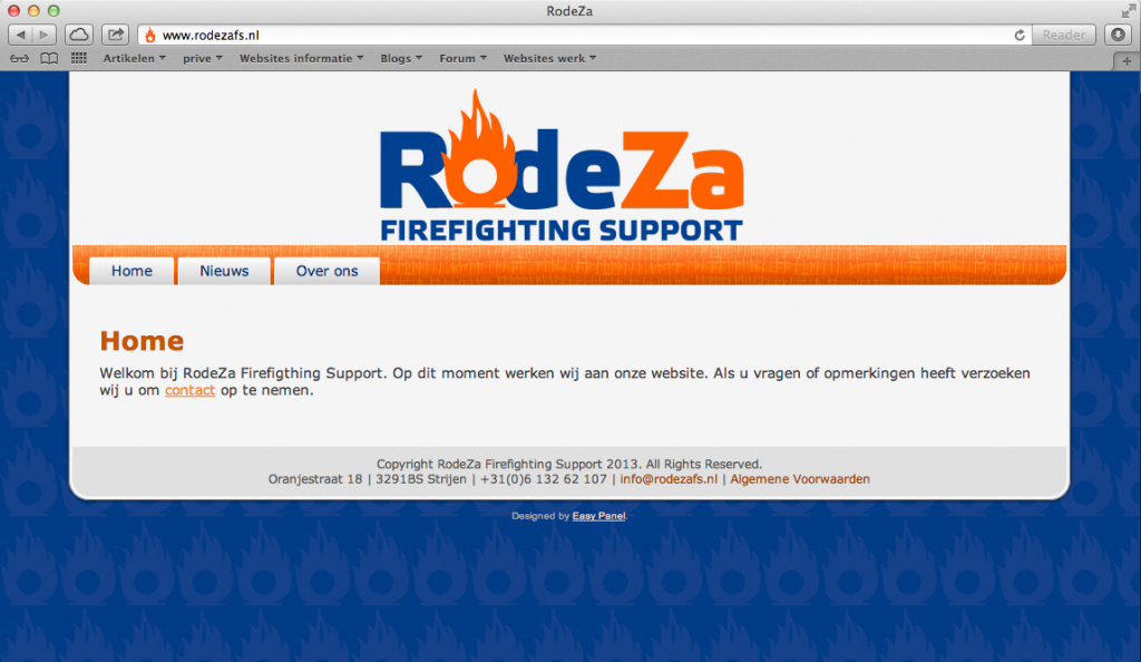 Website Rodeza Firefighting Support